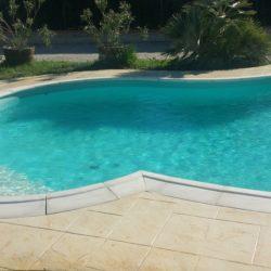 béton imprimé plage de piscine