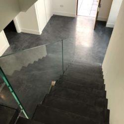 escalier anthracite béton ciré