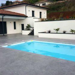 plage de piscine beton imprime sans margelles