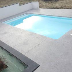 beton imprime plage de piscine sans margelles