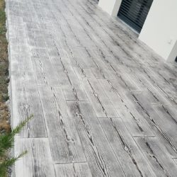terrasse béton imprimé