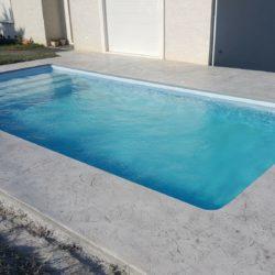 plage de piscine beton imprime